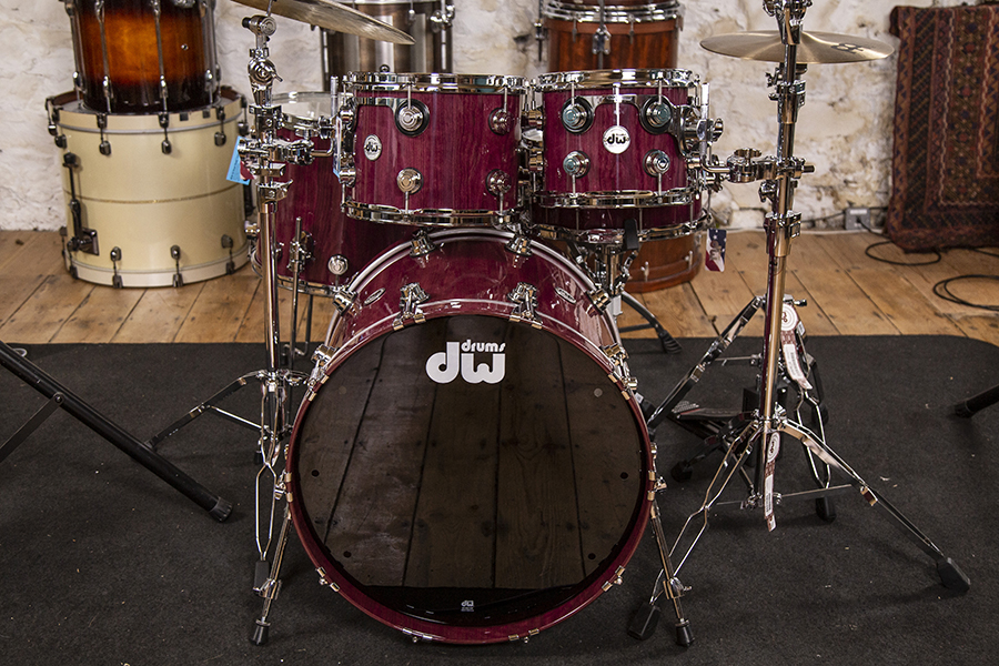 Dw Collectors Series Pure Purpleheart Shell Pack Drummer