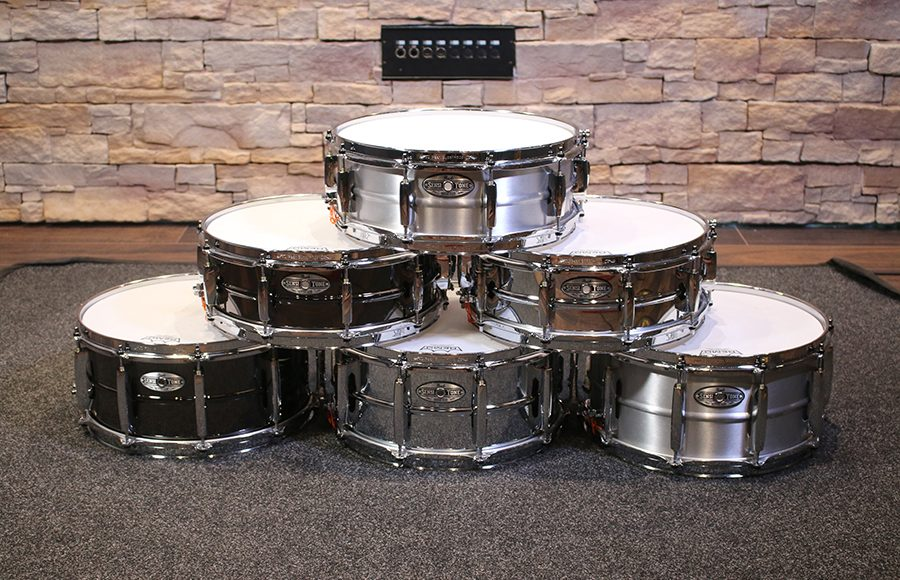 Pearl Sensitone Heritage Alloy Snare Drums